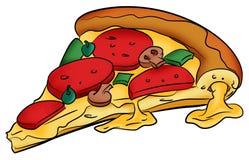 Große käsige Pizza stock abbildung
