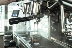 Große Kaffeemaschinefunktion Lizenzfreies Stockfoto