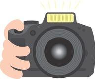 Große Kamera, die Foto macht Stockbild
