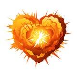 Große Karikatur-Herz-Explosion Lizenzfreies Stockfoto