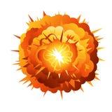 Große Karikatur-Radialstrahl-Explosion Stockbilder