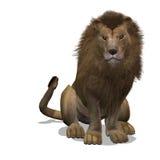 Große Katze-Löwe-Mann lizenzfreie abbildung