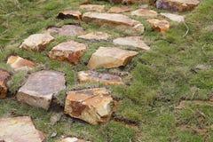 Große Kiesschritte, luftgetrockneter Ziegelstein rgb Lizenzfreies Stockfoto