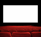 Große Kinoleinwand Stockfotografie