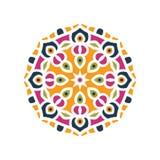 Große Knospe des Kaleidoskops Orientalische Musterillustration Playnig mit Leuchte stockfotografie