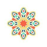 Große Knospe des Kaleidoskops Orientalische Musterillustration Playnig mit Leuchte lizenzfreies stockbild
