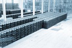 Große Konstitution für Lagerung von Fertigwaren stockfotografie