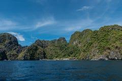 Große Lagune in EL Nido, Palawan Besichtigungsplatz in Philippinen stockbild