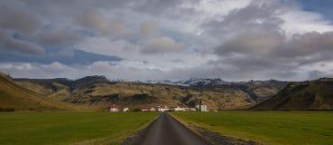 Große Landwirtschaftsranch in Island Lizenzfreies Stockbild