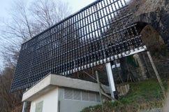 Große LED-Platte bei Monte Bre, Lugano, die Schweiz Stockfotos