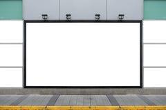 Große leere Anschlagtafel auf einer Straßenwand Stockfoto
