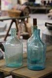 Große leere Glasflasche Stockfotos
