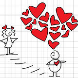 Große Liebe Stockbilder
