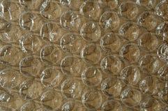 Große Luftblasenverpackung - Braun Stockfotos