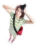 Große Mühe - junger Jugendlichekursteilnehmer Stockbilder
