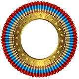 Große Medaille mit goldenem Ring Stockbilder