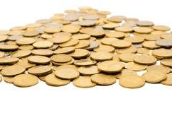 Große Menge Münzen Stockfotografie