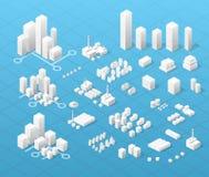 Große moderne Stadt lizenzfreie abbildung