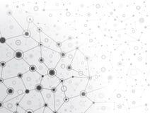 Große molekulare graue Struktur Stockfoto