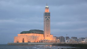 Große Moschee in Casablanca, Marokko stock video footage