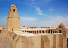 Große Moschee von Kairouan Stockfotografie