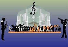 Große Orchesterabbildung Stockfotografie