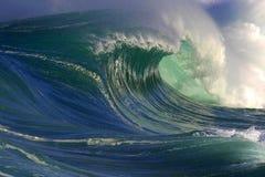 Große Ozean-Welle in Hawaii stockbilder