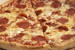 Große Pizza Stockbild