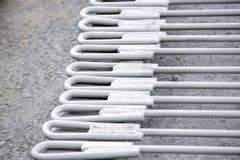 Große Pumpen und Rohrleitungen Stockbild