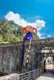 Große Puppe in Kotor Lizenzfreies Stockfoto
