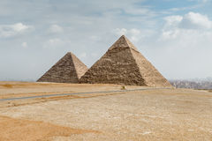 Große Pyramiden Egypt Lizenzfreie Stockfotos