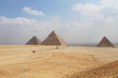 Große Pyramiden in Giza, Ägypten Lizenzfreies Stockfoto