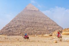 Große Pyramiden in Kairo stockbild