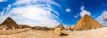 Große Pyramiden von Giza, Ägypten stockfotos