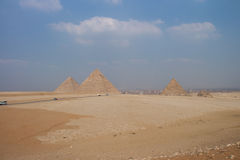 Große Pyramiden von Gizah in Kairo, Ägypten Lizenzfreie Stockbilder