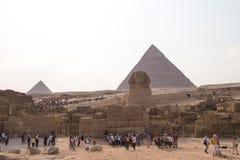 Große Pyramiden von Gizah in Kairo, Ägypten Stockfotos