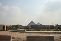 Große Pyramiden von Gizah in Kairo, Ägypten Stockbilder