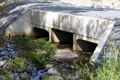 Große Regenwasser-Abflüsse Stockfotografie