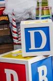 Große Rieseblöcke mit Buchstaben stockfoto