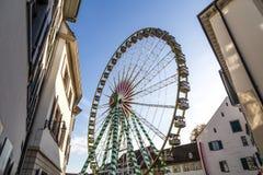 Große Riesenrad herein Basel Lizenzfreies Stockbild