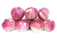 Große rote Äpfel lokalisiert Stockbild