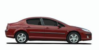 Große rote Limousine Stockfotos