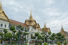 Große Royal Palace Bangkok Thailand stockbild