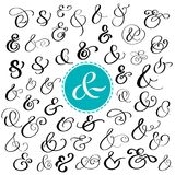 Große Sammlung kundenspezifische handgeschriebene Etzeichen Polierhand gezeichnete Symbole für Heiratseinladung Auch im corel abg lizenzfreie abbildung