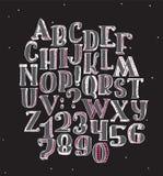 Große Sammlung mit handdrawn Alphabet mit Buchstabereihenfolge Lizenzfreies Stockbild
