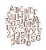 Große Sammlung mit handdrawn Alphabet mit Buchstabereihenfolge von A zu Z Stockfotos