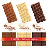 Große Sammlung Schokolade lizenzfreie abbildung