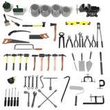 Große Sammlung Werkzeuge Stockbild