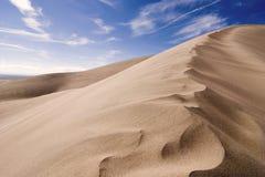Große Sanddünen Lizenzfreies Stockbild