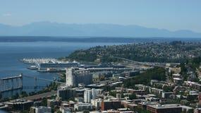 Große schöne Stadt, Seattle, USA Stockbild
